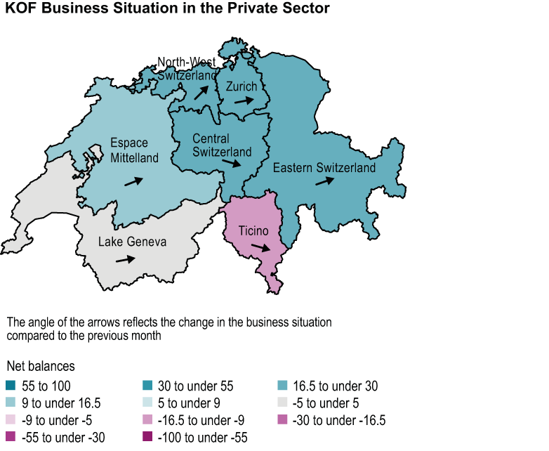 business situation according to region 2017Q1